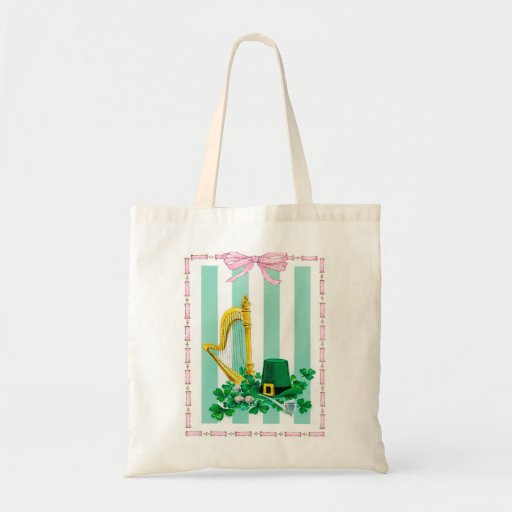 The Irish Harp Budget Tote Bag