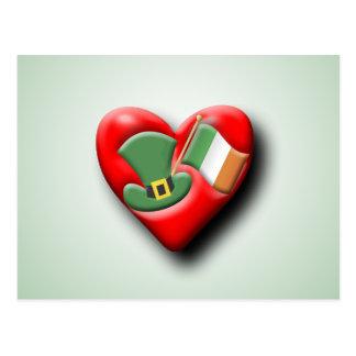 The Irish Heart Postcard
