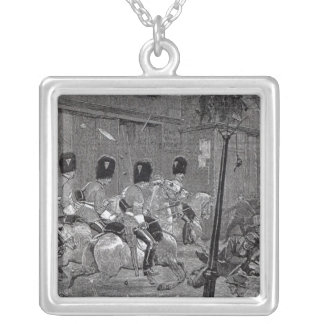 The Irish Land League Agitation Square Pendant Necklace