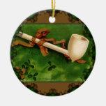 The Irish Pipe by Ellen Clapsaddle Ornament