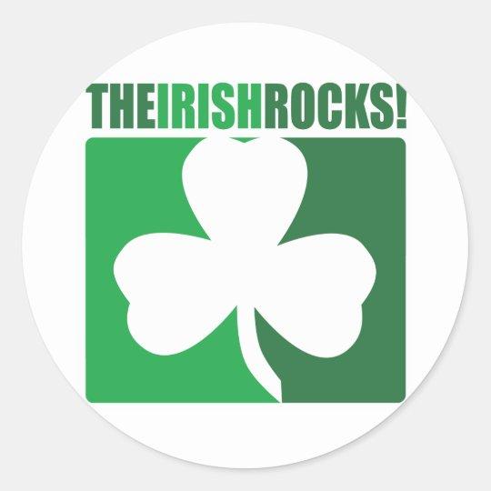 The Irish Rocks! Classic Round Sticker