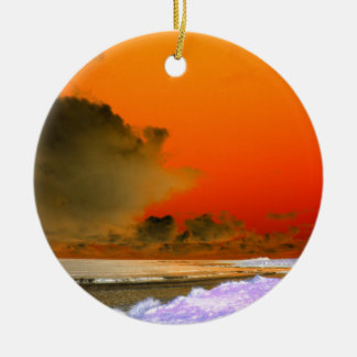 The Irish Sea Inverted photo Ceramic Ornament