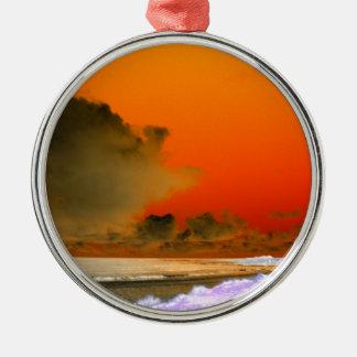 The Irish Sea Inverted photo Metal Ornament