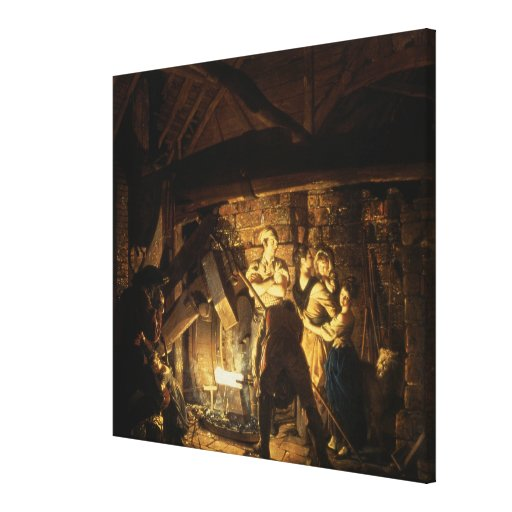 The Iron Forge, 1772 Gallery Wrap Canvas