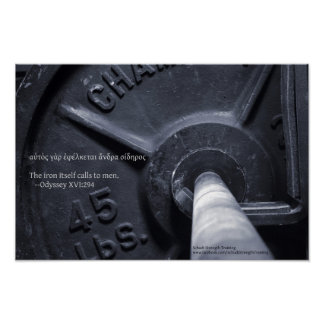 The iron itself calls to men. poster