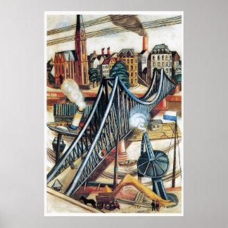 The Ironbridge by Max Beckmann Poster