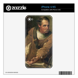 The Ironside (oil on canvas) (pair of 124491) iPhone 4 Decals