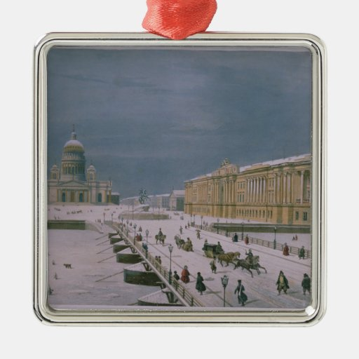 The Isaac Cathedral and the Senate Square Christmas Tree Ornament