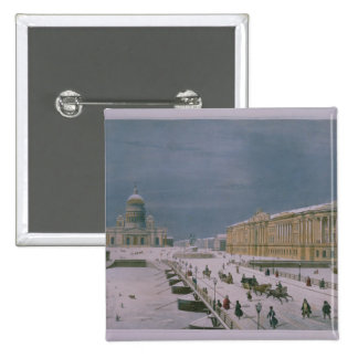 The Isaac Cathedral and the Senate Square Pinback Button