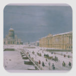 The Isaac Cathedral and the Senate Square Square Stickers