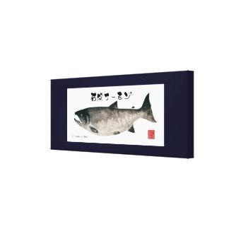 The Ishikari salmon! 100 year retention canvas! <  Canvas Print