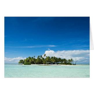 The Island greeting card horizontal