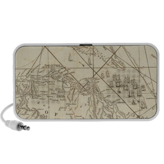The Island of Cuba with part of the Bahama Banks Portable Speaker