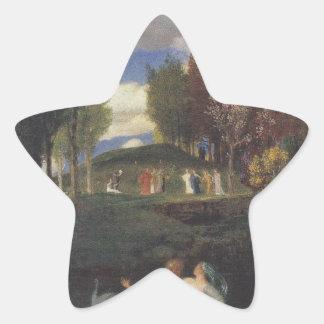 The Island of Life by Arnold Böcklin Star Sticker
