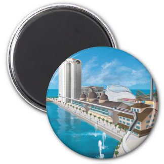 The Island of Long Beach Official Gear 2 Inch Round Magnet