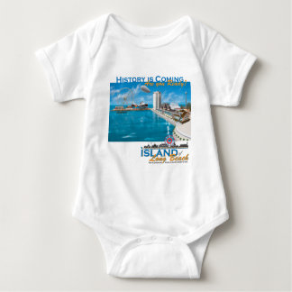 The Island of Long Beach Official Gear Baby Bodysuit