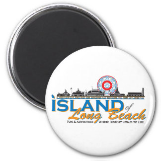 The Island of Long Beach Official Gear Magnet