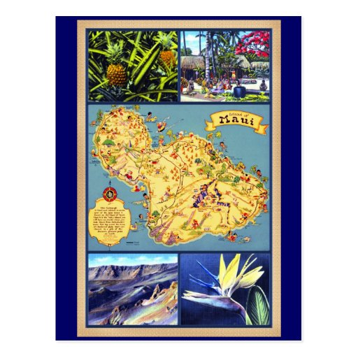 The Island of Maui Hawaii Post Cards