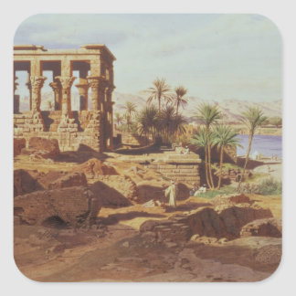 The Island of Philae, 1866 (w/c) Square Sticker