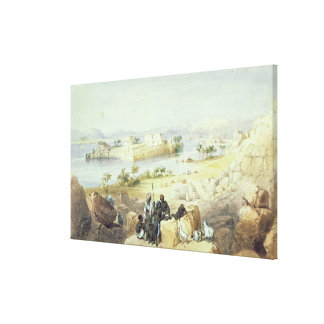 The Island of Philae, looking down the River Nile Canvas Print