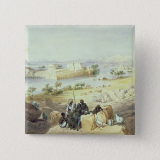 The Island of Philae, looking down the River Nile Pinback Button