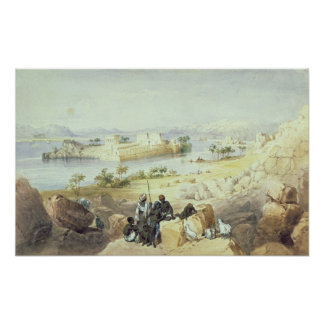 The Island of Philae, looking down the River Nile Poster