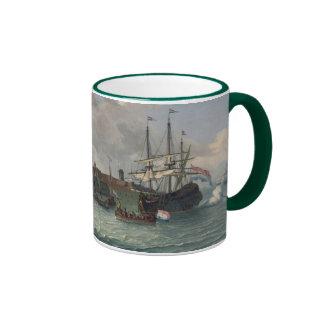 The Island Onrust Near Batavia Ringer Coffee Mug