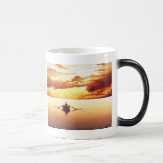 """""""The Islander"""" Row Boat at Sunset Watercolor Magic Mug"""