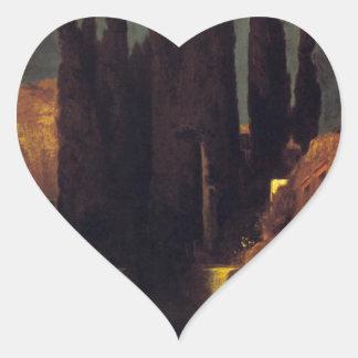 The Isle of the Dead by Arnold Böcklin Heart Sticker