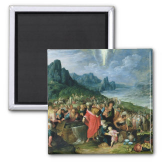 The Israelites on the Bank of the Red Sea, 1621 2 Inch Square Magnet