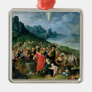 The Israelites on the Bank of the Red Sea, 1621 Square Metal Christmas Ornament