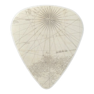 The Isthmus of Panama Acetal Guitar Pick