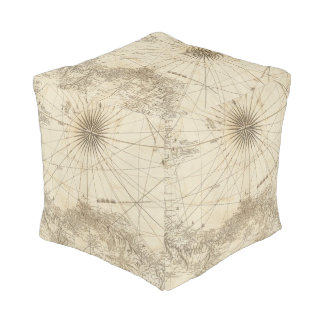 The Isthmus of Panama Cube Pouf