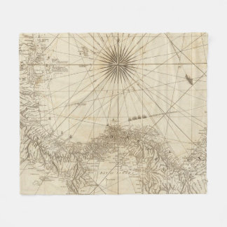 The Isthmus of Panama Fleece Blanket