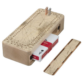 The Isthmus of Panama Maple Cribbage Board