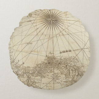 The Isthmus of Panama Round Pillow