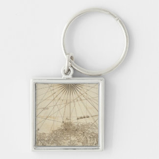 The Isthmus of Panama Silver-Colored Square Keychain