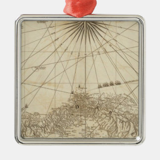 The Isthmus of Panama Square Metal Christmas Ornament