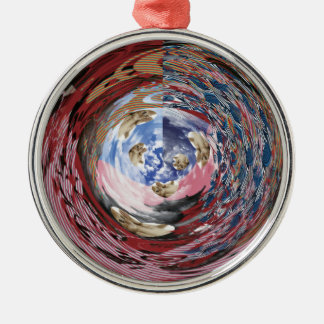 The ~ it is, the cat Himeji u wa ~ compilation Round Metal Christmas Ornament