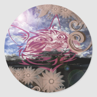 The ~ it is, the cat Imabari compilation Classic Round Sticker