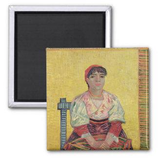 The Italian: Agostina Segatori, 1887 2 Inch Square Magnet