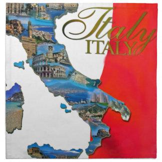 "The Italian ""Boot"" Printed Napkins"