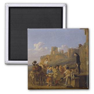 The Italian Charlatans, 1657 2 Inch Square Magnet