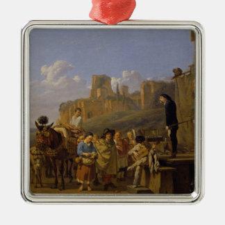 The Italian Charlatans, 1657 Metal Ornament