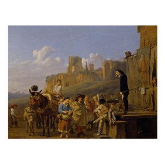 The Italian Charlatans, 1657 Postcard