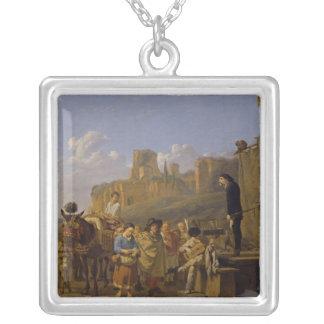 The Italian Charlatans, 1657 Square Pendant Necklace