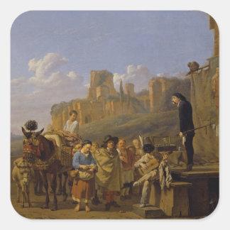 The Italian Charlatans, 1657 Square Sticker