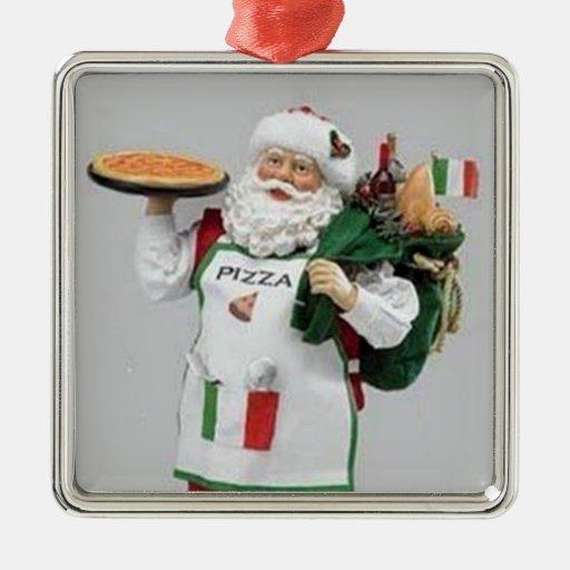 The Italian Chef Santa Christmas Ornament Zazzle