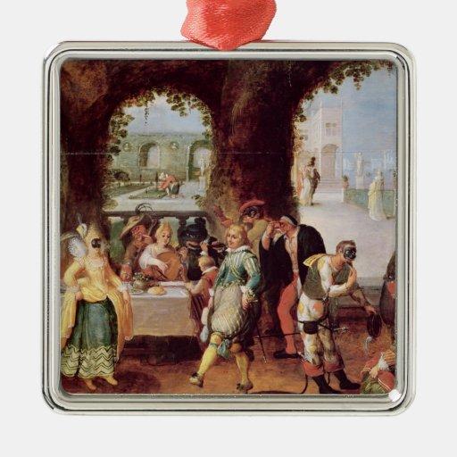 The Italian Comedians Christmas Ornament