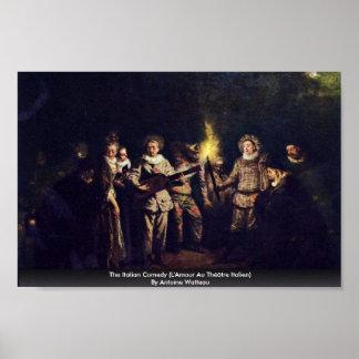 The Italian Comedy (L'Amour Au Théâtre Italien) Print